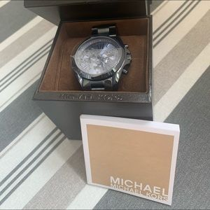 MK Dark Midnight Blue Boyfriend Watch